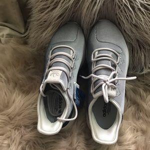 New Adidas tubular shadow platinum metallic.